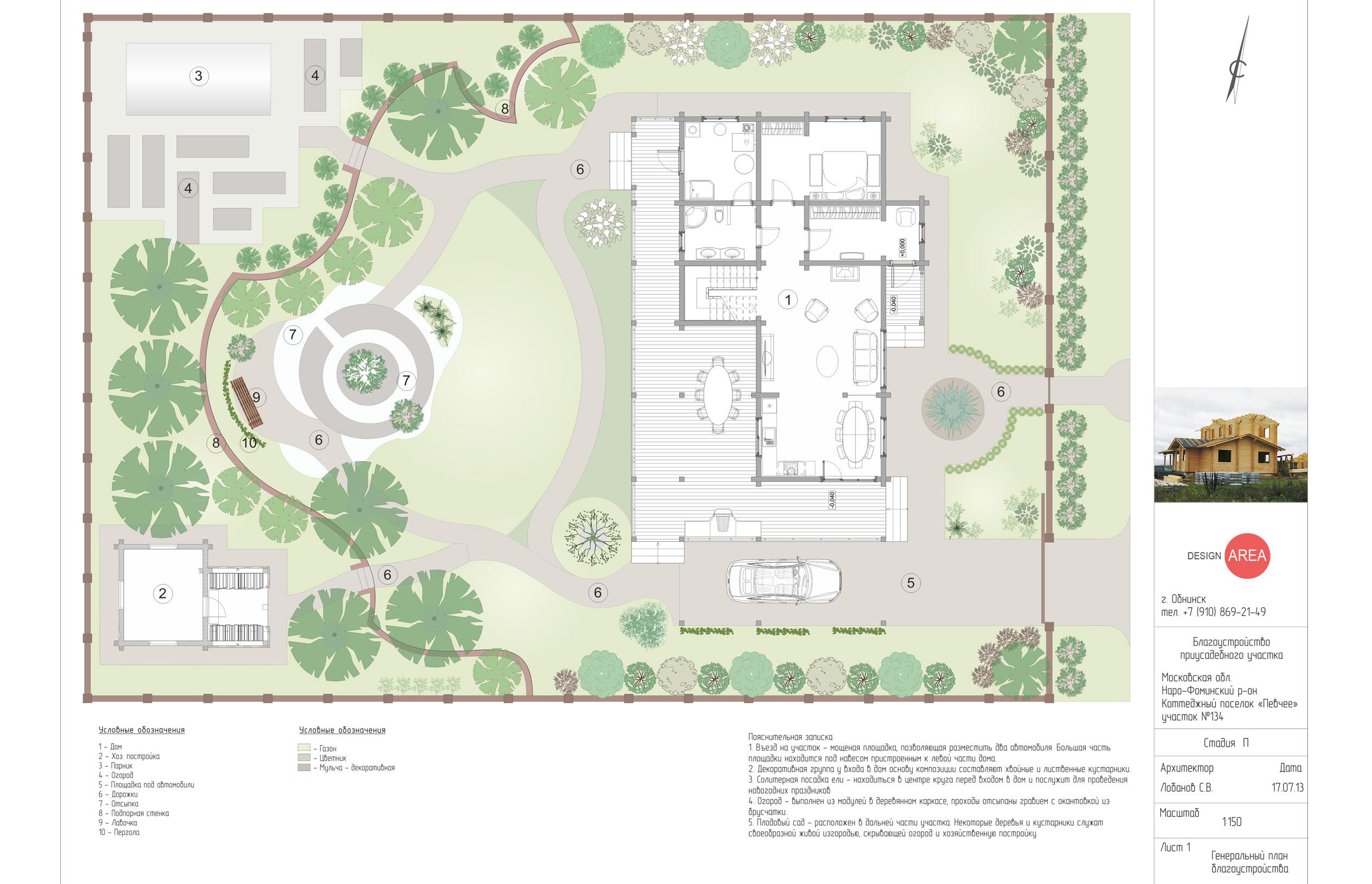 Дизайн проект ландшафтов